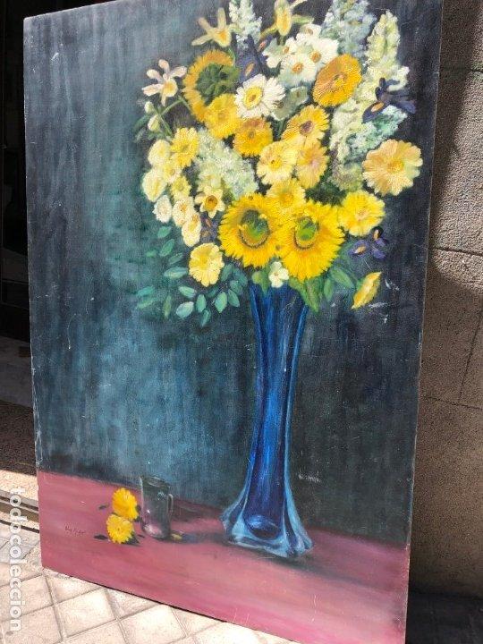 GIGANTESCO Y DECORATIVO FLORERO SOBRE TABLA 172X114 (Arte - Pintura - Pintura al Óleo Moderna sin fecha definida)