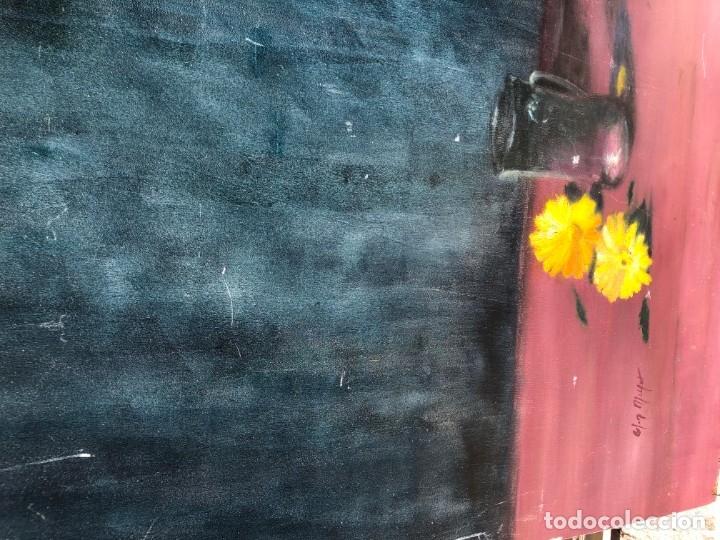 Arte: GIGANTESCO Y DECORATIVO FLORERO SOBRE TABLA 172X114 - Foto 5 - 177409190
