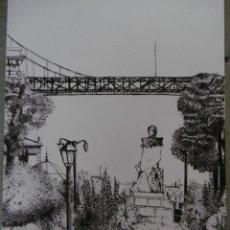 Arte: DIBUJO. PUENTE COLGANTE. PORTUGALETE. Lote 177415434