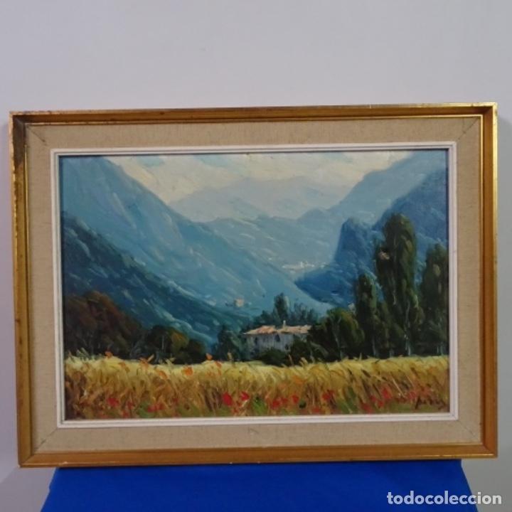 Arte: Oleo sobre tela de Ramon trulls Pons pintor de Manresa. - Foto 2 - 177430413