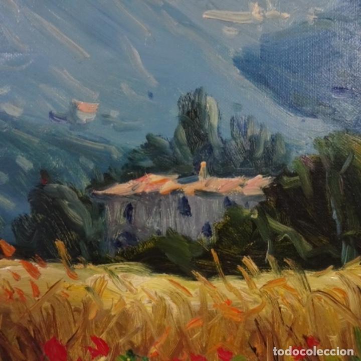Arte: Oleo sobre tela de Ramon trulls Pons pintor de Manresa. - Foto 3 - 177430413