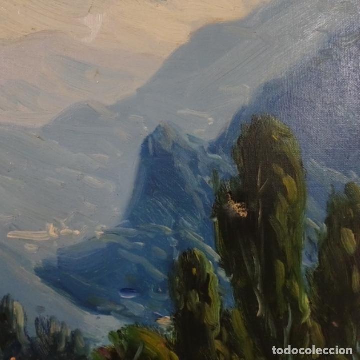 Arte: Oleo sobre tela de Ramon trulls Pons pintor de Manresa. - Foto 4 - 177430413