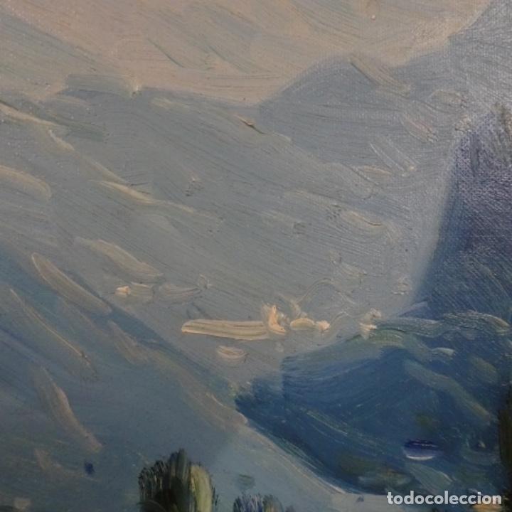 Arte: Oleo sobre tela de Ramon trulls Pons pintor de Manresa. - Foto 7 - 177430413