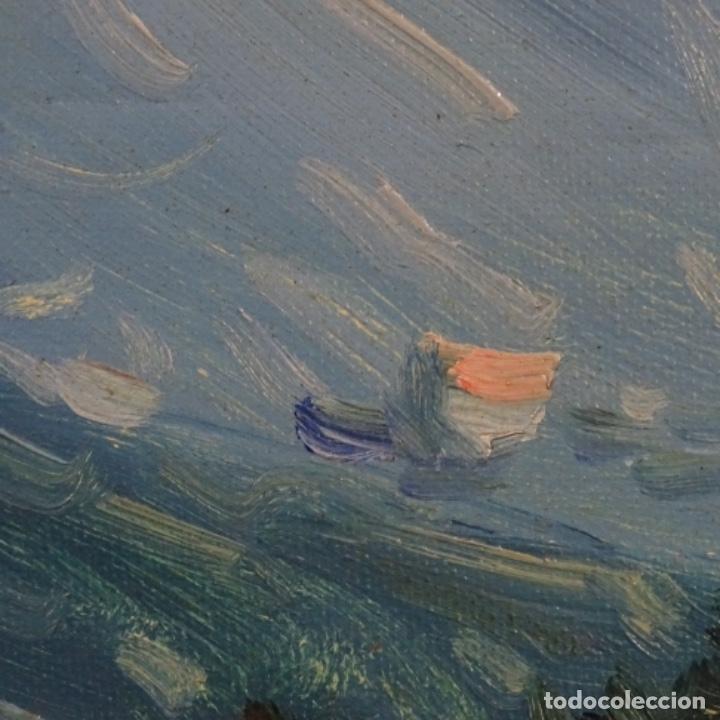 Arte: Oleo sobre tela de Ramon trulls Pons pintor de Manresa. - Foto 8 - 177430413