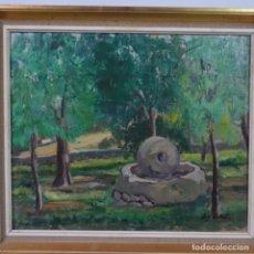 Arte: OLEO SOBRE TELA DE LLUÍS LLOBET.PAISAJE.. Lote 177430627