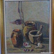 Arte: OLEO SOBRE TELA DE LLUÍS LLOBET.BODEGON.. Lote 177430718