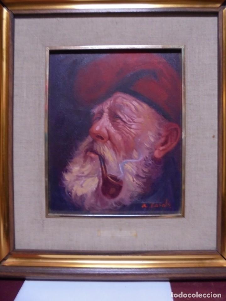 Arte: magnifico oleo sobre lienzo,del pintor A.casals - Foto 2 - 177521127