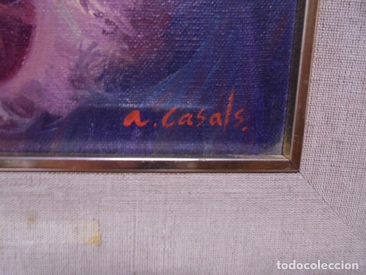 Arte: magnifico oleo sobre lienzo,del pintor A.casals - Foto 4 - 177521127
