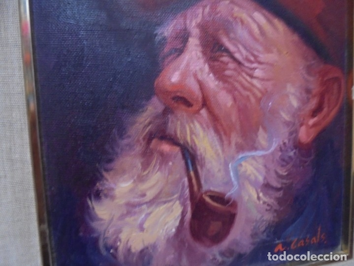 Arte: magnifico oleo sobre lienzo,del pintor A.casals - Foto 8 - 177521127