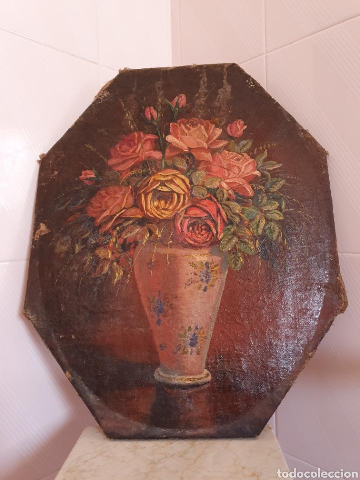 MUY ANTIGUO BODEGON DE FLORES ESTA FIRMADO POR EL PINTOR FAUSTO ANTONIO MOYA (Arte - Pintura - Pintura al Óleo Antigua sin fecha definida)