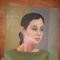 Art: PINTURA OLEO DE ISABEL PRESLEY SA DE VARGAS LLOSA FIRMA J ESPLA PINTOR ARTISTA HOGUERAS ALICANTE. Lote 136271850