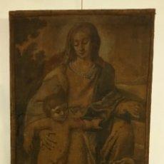 Arte: PINTURA VIRGEN NIÑO SIGLO XVI BUEN ESTADO. Lote 177656838