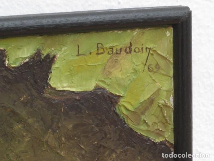Arte: Oleo sobre tela 1969. 75x53cm. L. Baudoin. - Foto 2 - 177678744
