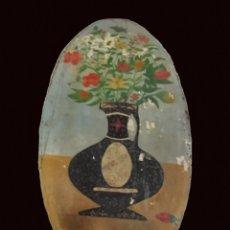 Arte: ANTIGUO OLEO , FLORERO ANTIGUO LLENO DE ENCANTO. Lote 177695520
