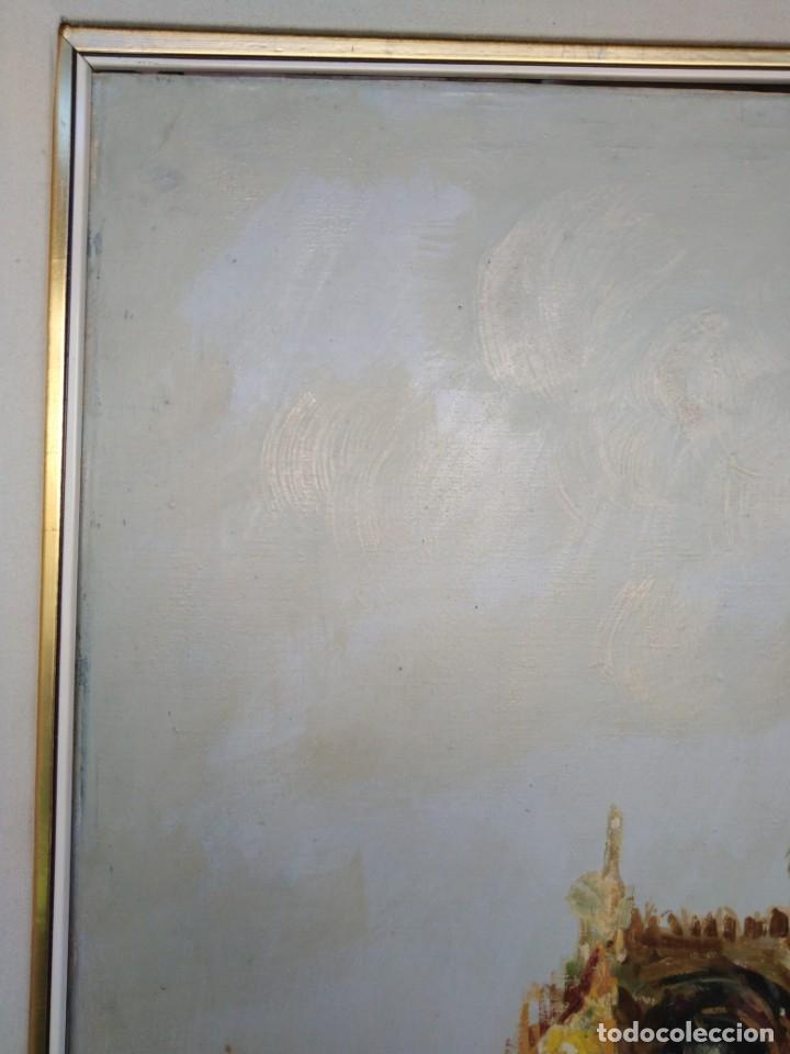 Arte: Vista de Venecia.Plaza de San marcos. óleo sobre tela. Siglo xix 50x60ctms - Foto 10 - 177712447