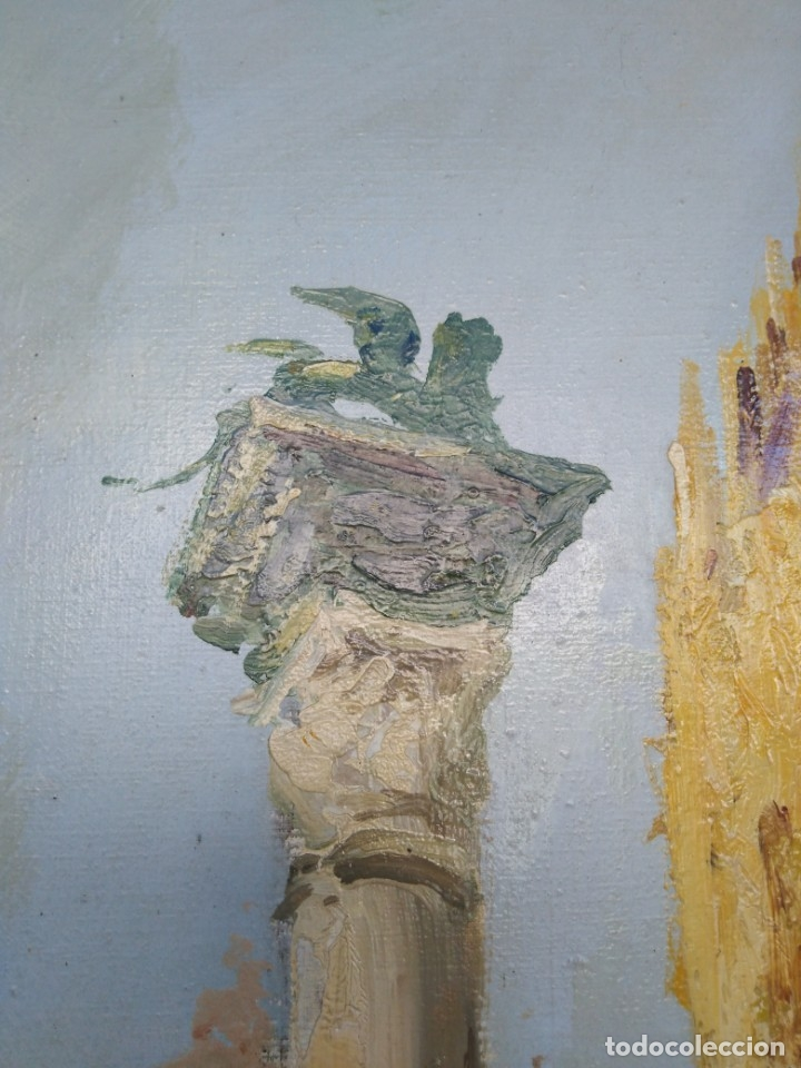 Arte: Vista de Venecia.Plaza de San marcos. óleo sobre tela. Siglo xix 50x60ctms - Foto 15 - 177712447