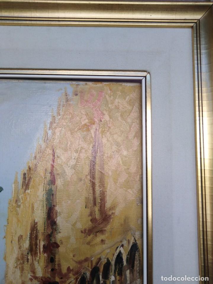 Arte: Vista de Venecia.Plaza de San marcos. óleo sobre tela. Siglo xix 50x60ctms - Foto 18 - 177712447