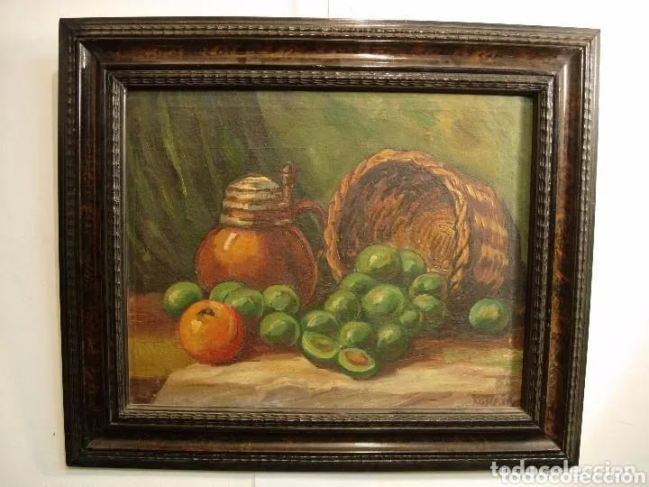 Arte: 2 PINTURAS BODEGONES SIGLO XVIII BUEN ESTADO - Foto 2 - 177737120