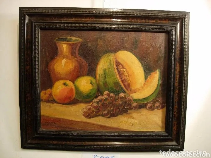 2 PINTURAS BODEGONES SIGLO XVIII BUEN ESTADO (Arte - Pintura - Pintura al Óleo Antigua siglo XVIII)