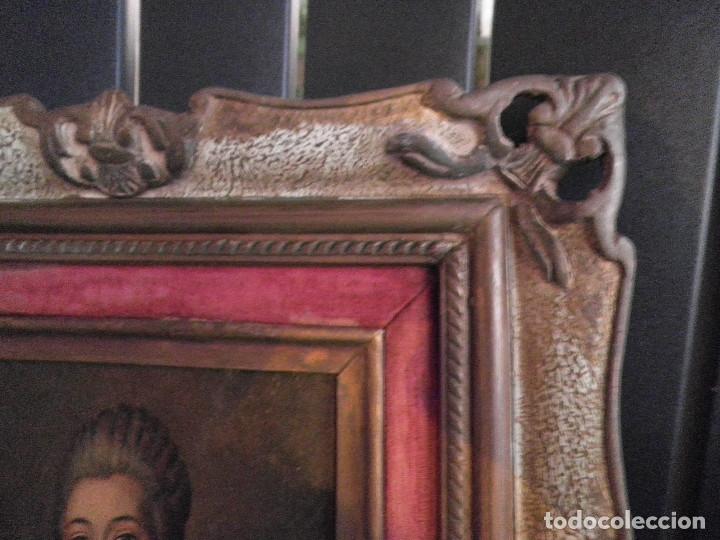 Arte: Dama retrato oleo cuadro XVIII - Foto 8 - 177740325