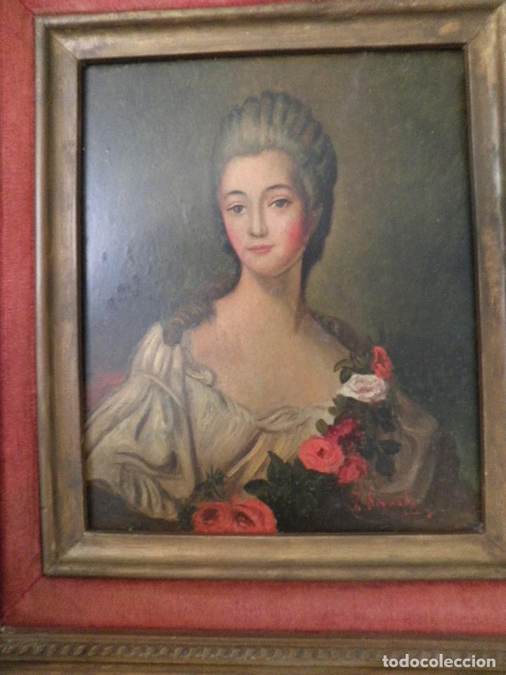 DAMA RETRATO OLEO CUADRO XVIII (Arte - Pintura - Pintura al Óleo Antigua siglo XVIII)
