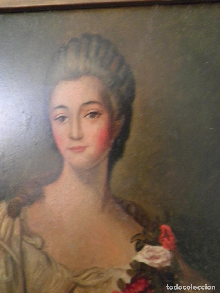 Arte: Dama retrato oleo cuadro XVIII - Foto 3 - 177740325