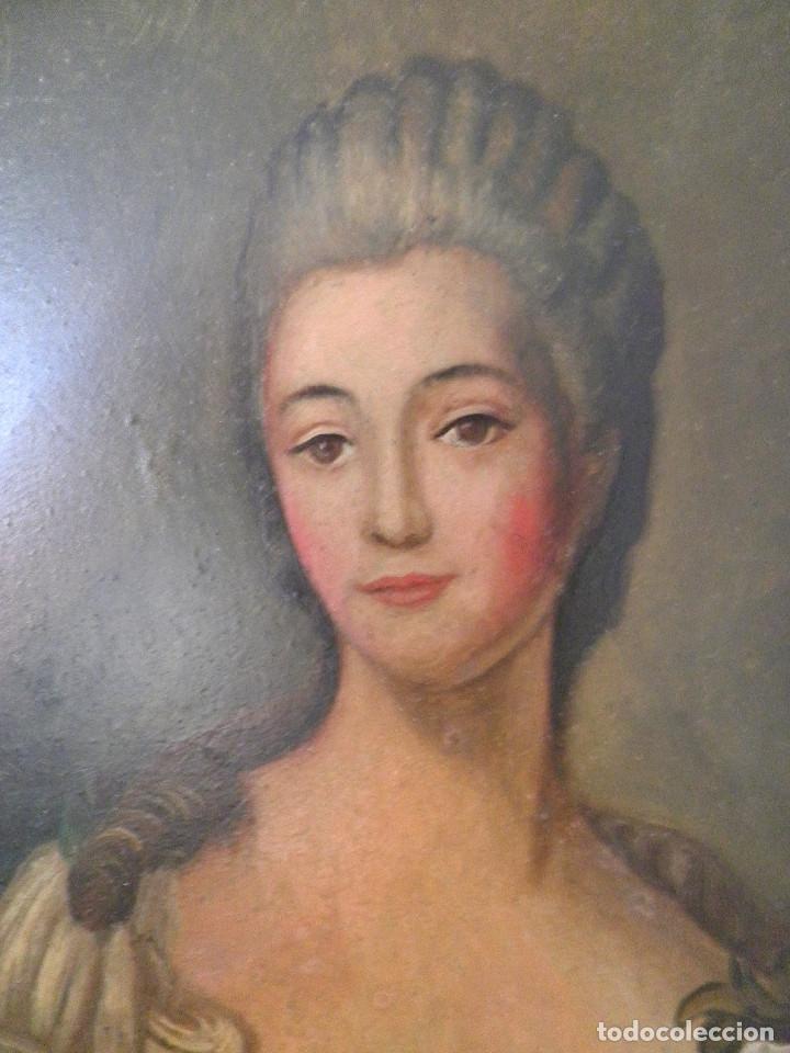 Arte: Dama retrato oleo cuadro XVIII - Foto 4 - 177740325