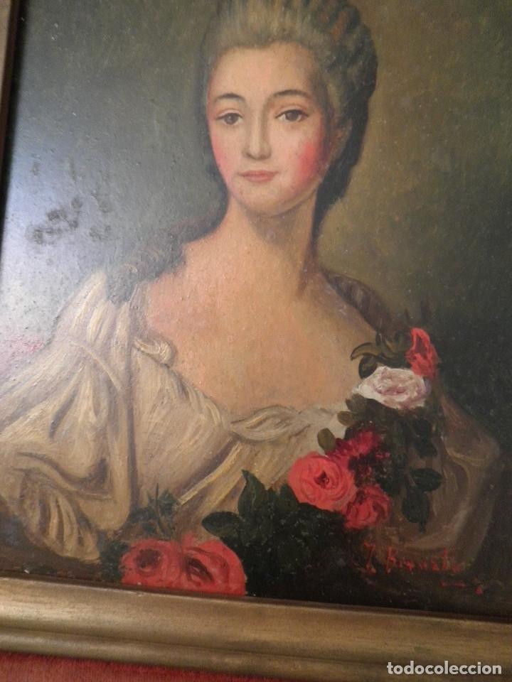 Arte: Dama retrato oleo cuadro XVIII - Foto 5 - 177740325