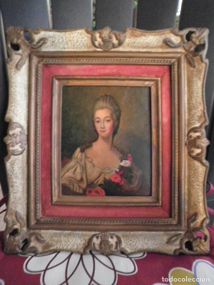 Arte: Dama retrato oleo cuadro XVIII - Foto 6 - 177740325