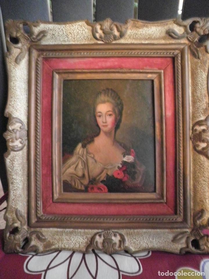 Arte: Dama retrato oleo cuadro XVIII - Foto 7 - 177740325