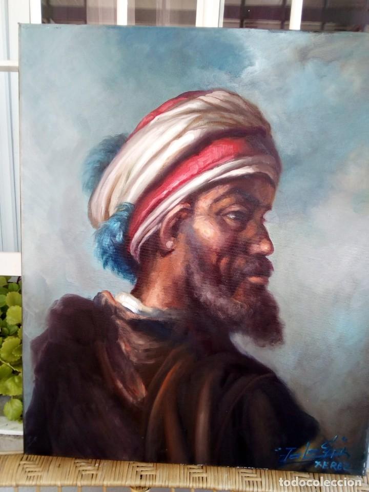 JOLOGA. RETRATO DE ÁRABE. LIENZO 65X54. CON MARCO INCLUIDO. (Arte - Pintura - Pintura al Óleo Contemporánea )