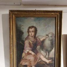 Arte: OLEO SIGLO XVII SAN JUANITO. Lote 177749909