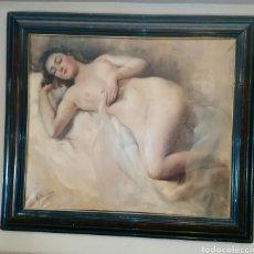 Arte: DESNUDO. R. SARABIA. 1944. ENMARCADO. ENVIO CERTIFICADO INCLUIDO.. Lote 177774378