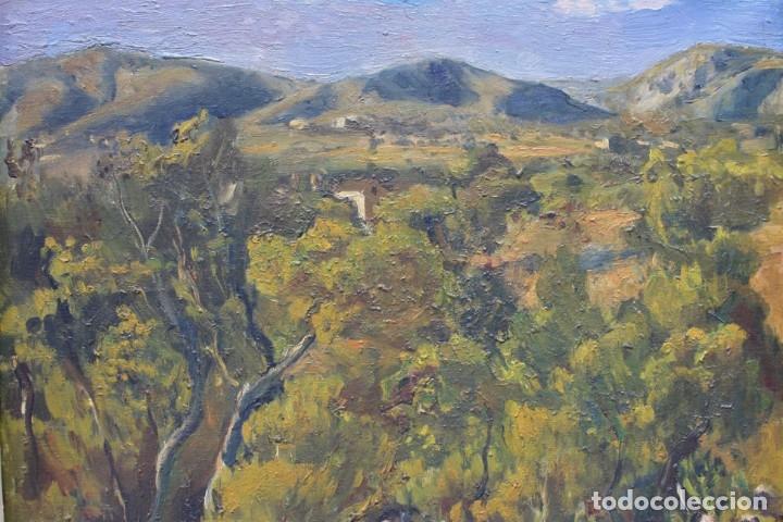 Arte: Alfred Sisquella (1900 - 1964), paisaje, pintura al óleo sobre tela, con marco. 45x37cm - Foto 2 - 177774402