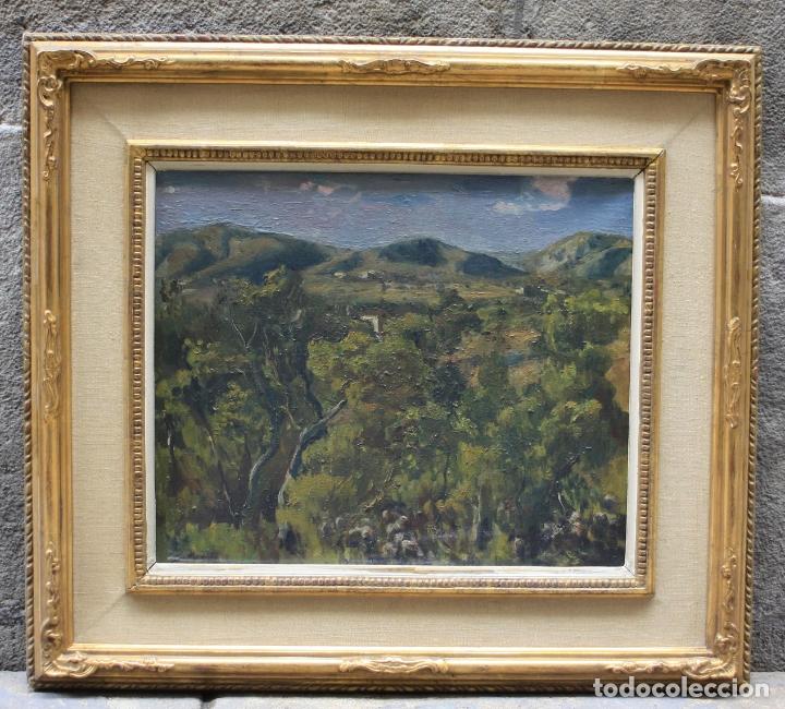 ALFRED SISQUELLA (1900 - 1964), PAISAJE, PINTURA AL ÓLEO SOBRE TELA, CON MARCO. 45X37CM (Arte - Pintura - Pintura al Óleo Contemporánea )