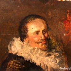 Arte: RETRATO FLAMENCO AL ESTILO FRANZ HALS, OLEO SOBRE TABLA. Lote 177836227