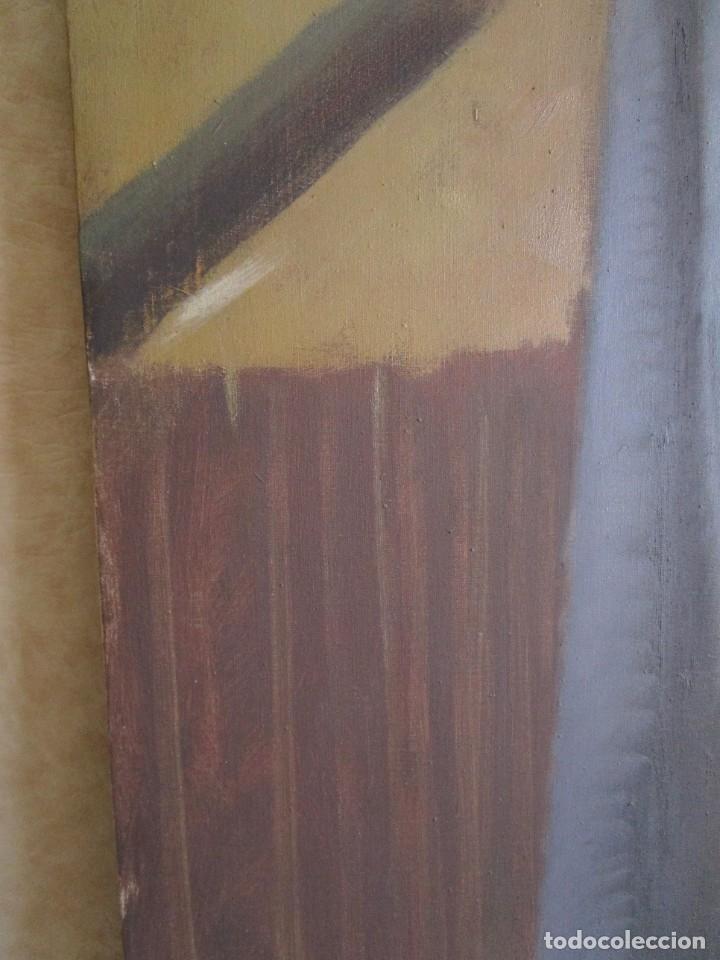 Arte: cuadro oleo mujer posando raul greus valencia 109 cm x 75 cm firmado en tela de saco - Foto 7 - 40452237