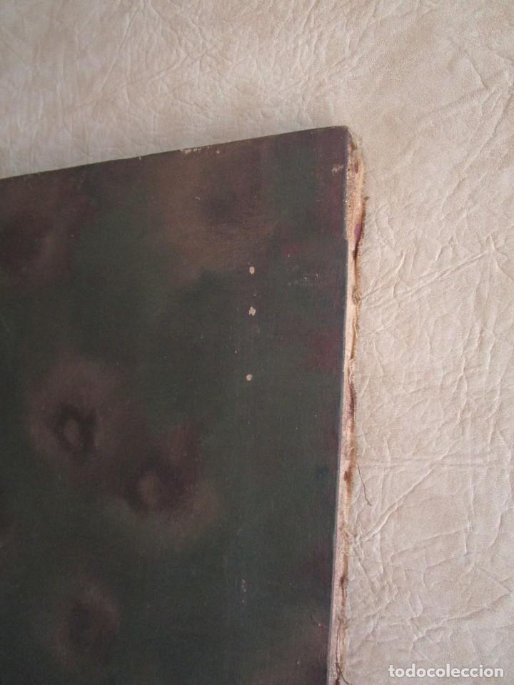 Arte: cuadro oleo mujer posando raul greus valencia 109 cm x 75 cm firmado en tela de saco - Foto 8 - 40452237
