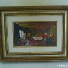 Arte: OLEO PINTURA FIGURATIVA BUARDILLA PINTOR VALENCIANO JOSE GARCIA TORRES.. Lote 177892922