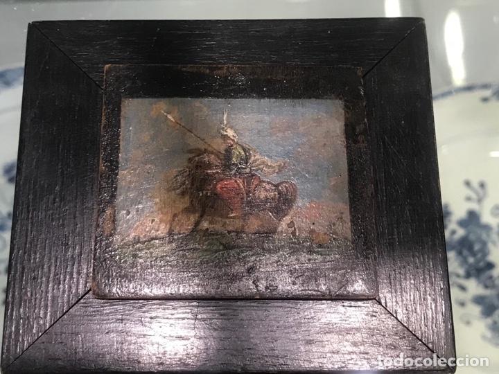 Arte: IMPORTANTE MINIATURA- OLEO SOBRE TABLA ESCENA ORIENTALISTA FIRMADA FORTUNY. MEDIADOS XIX - Foto 5 - 177897988