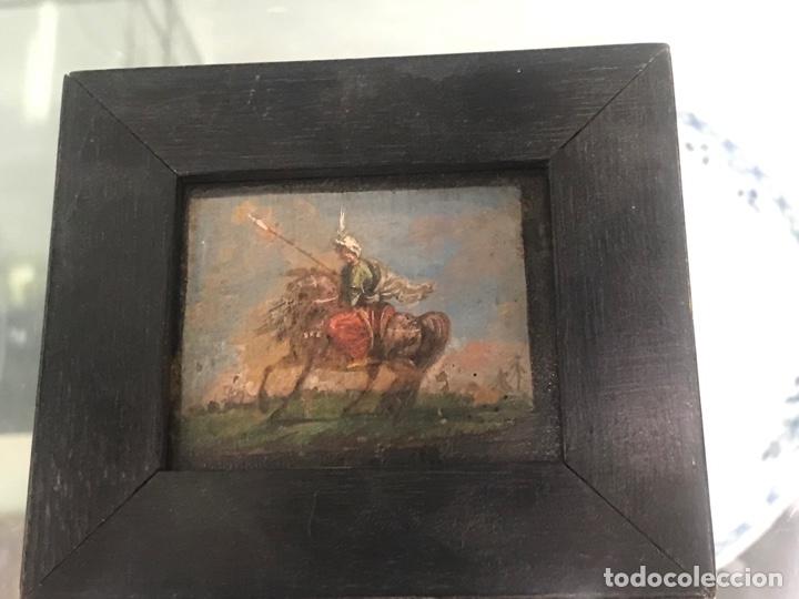 Arte: IMPORTANTE MINIATURA- OLEO SOBRE TABLA ESCENA ORIENTALISTA FIRMADA FORTUNY. MEDIADOS XIX - Foto 14 - 177897988