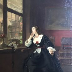 "Arte: "" LA ESPERA"" JOHANNES CORNELIUS MERTZ,S XIX 1859 FIRMADO JC. MERTZ, 70CM X 58CM X 2CM (MARCO). Lote 177980510"