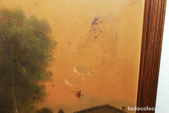 Arte: ÓLEO SOBRE LIENZO FIRMADO VIDAL - PAISAJE CON CASA - FINALES SIGLO XIX, PRINCIPIOS SIGLO XX - Foto 8 - 178041054
