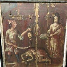 Arte: IMPRESIONANTE MARTIRIO SAN JUAN BAUTISTA, TABLA, S. XVI, ESC CASTELLANA. Lote 178060448