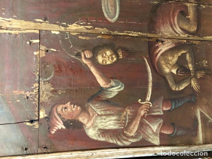 Arte: IMPRESIONANTE MARTIRIO SAN JUAN BAUTISTA, TABLA, S. XVI, ESC CASTELLANA - Foto 2 - 178060448