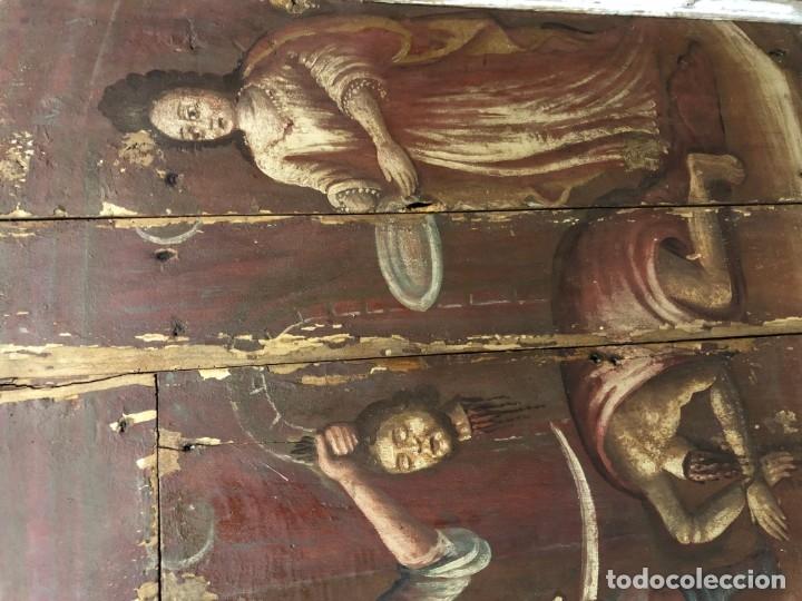Arte: IMPRESIONANTE MARTIRIO SAN JUAN BAUTISTA, TABLA, S. XVI, ESC CASTELLANA - Foto 3 - 178060448