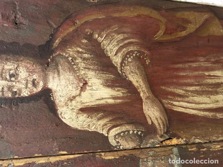 Arte: IMPRESIONANTE MARTIRIO SAN JUAN BAUTISTA, TABLA, S. XVI, ESC CASTELLANA - Foto 8 - 178060448