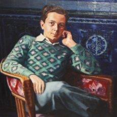 Arte: LLUIS MOLINS DE MUR (SABADELL, 1911 - 2006) OLEO SOBRE TELA. RETRATO MASCULINO. Lote 178121704