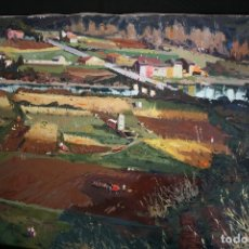 Arte: RAMON PUJOL GRABULOSA ( OLOT 1947 ) EXCELENTE PAISAJE RURAL , OLEO SOBRE TELA.. Lote 178135290