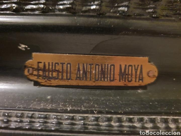 Arte: GRAN BODEGON DE NATURALEZA MUERTA 97CM DE ALTO FIRMADO POR SU AUTOR FAUSTO ANTONIO MOYA - Foto 8 - 178145852